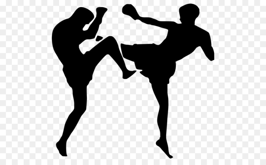 Kickboxing Silhouette png download.