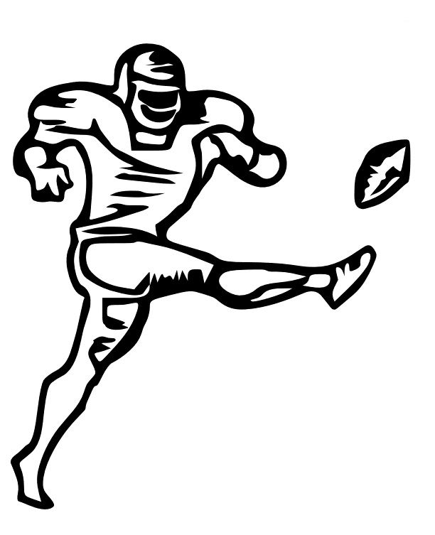 Showing post & media for Cartoon football kicker clip art.