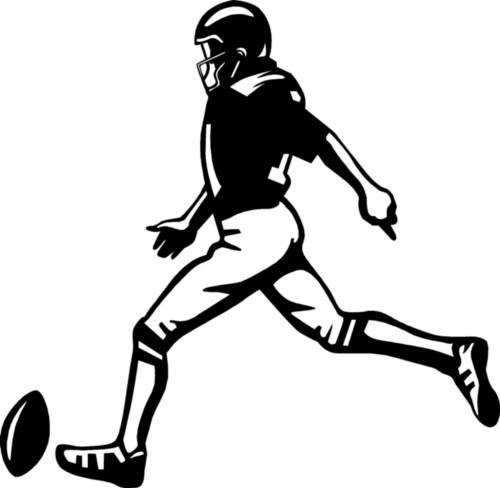 Football Kicker Clipart.