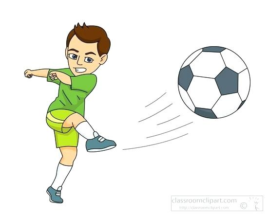 Soccer Clipart Images Player Kicking The Ball.