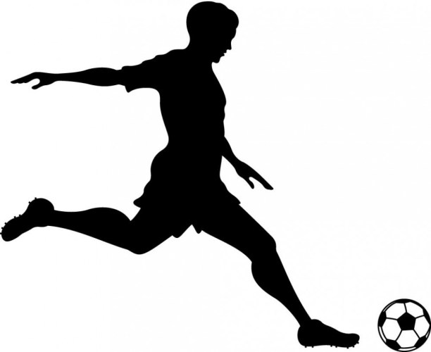 Free Football Player Kicking Ball, Download Free Clip Art ...
