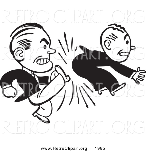 Kicking Someone Out Clipart.