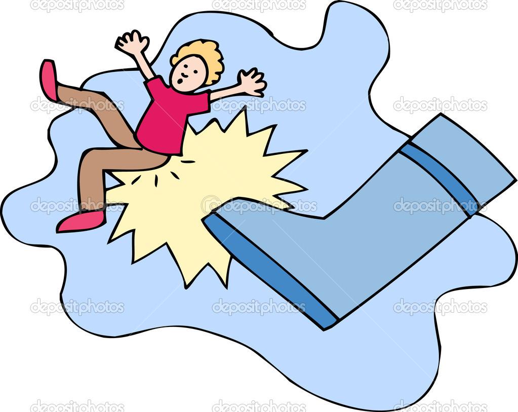 Cartoon Boot Kicking N2 free image.