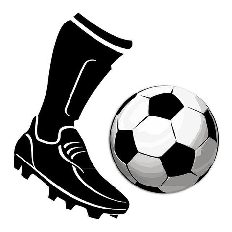 Boot Kicking Football Vector.