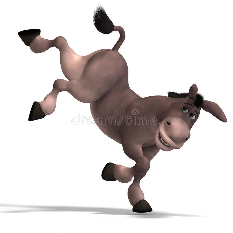 Kicking Donkey Stock Illustrations.