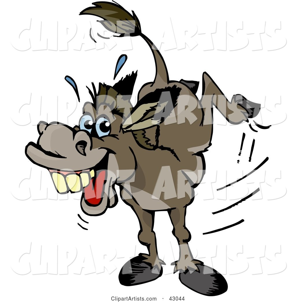 Stubborn Kicking Donkey Clipart by Dennis Holmes Designs (djholmes).