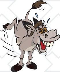 Kicking donkey clipart » Clipart Portal.