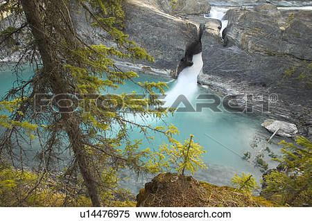 Stock Image of Kicking Horse River at the Natural Bridge, Yoho.