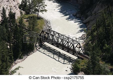 Stock Images of Railroad bridge.