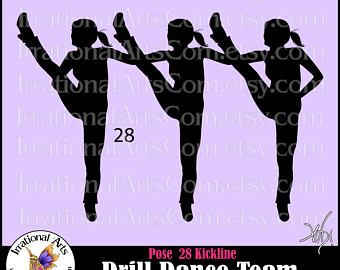 Dance Team PNG Kickline Transparent Dance Team Kickline.PNG Images.