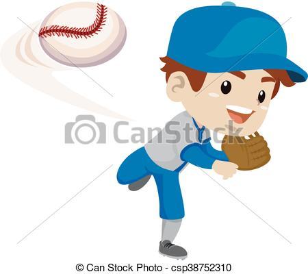 Kid Baseball Player throw the ball.
