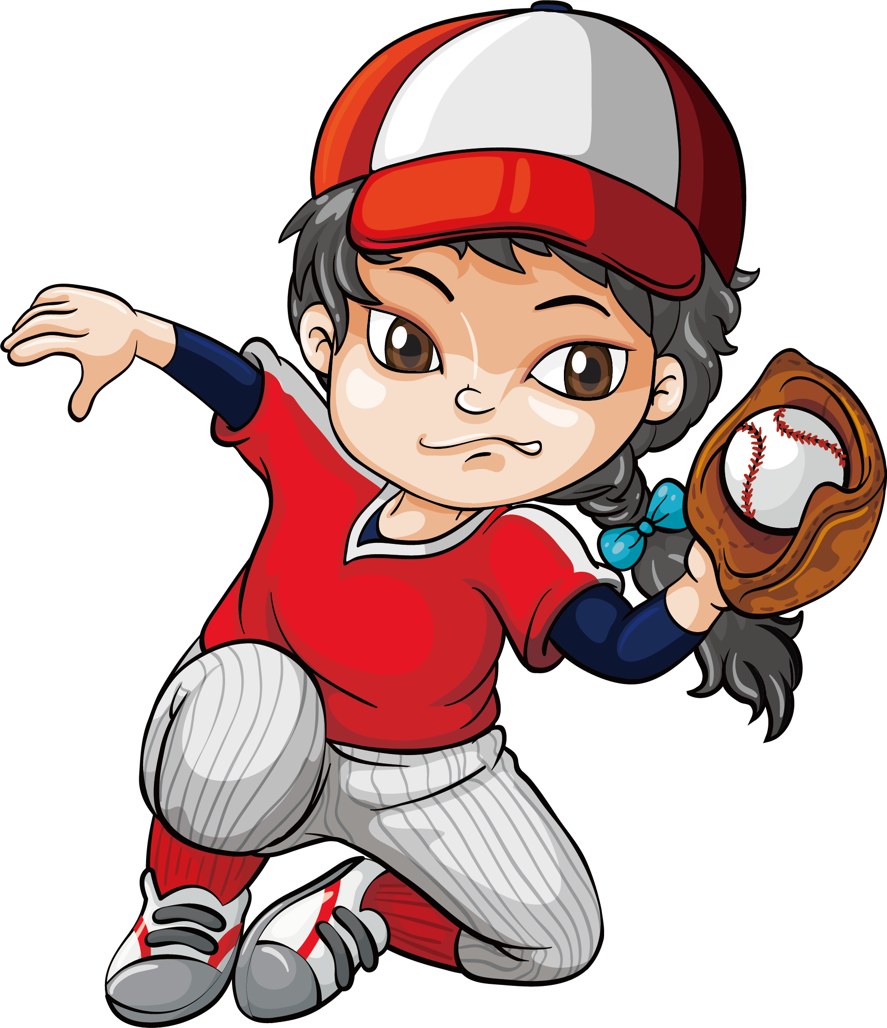 Kid baseball player clipart clipart images gallery for free download.