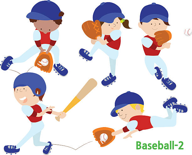 Best Kid Baseball Player Illustrations, Royalty.