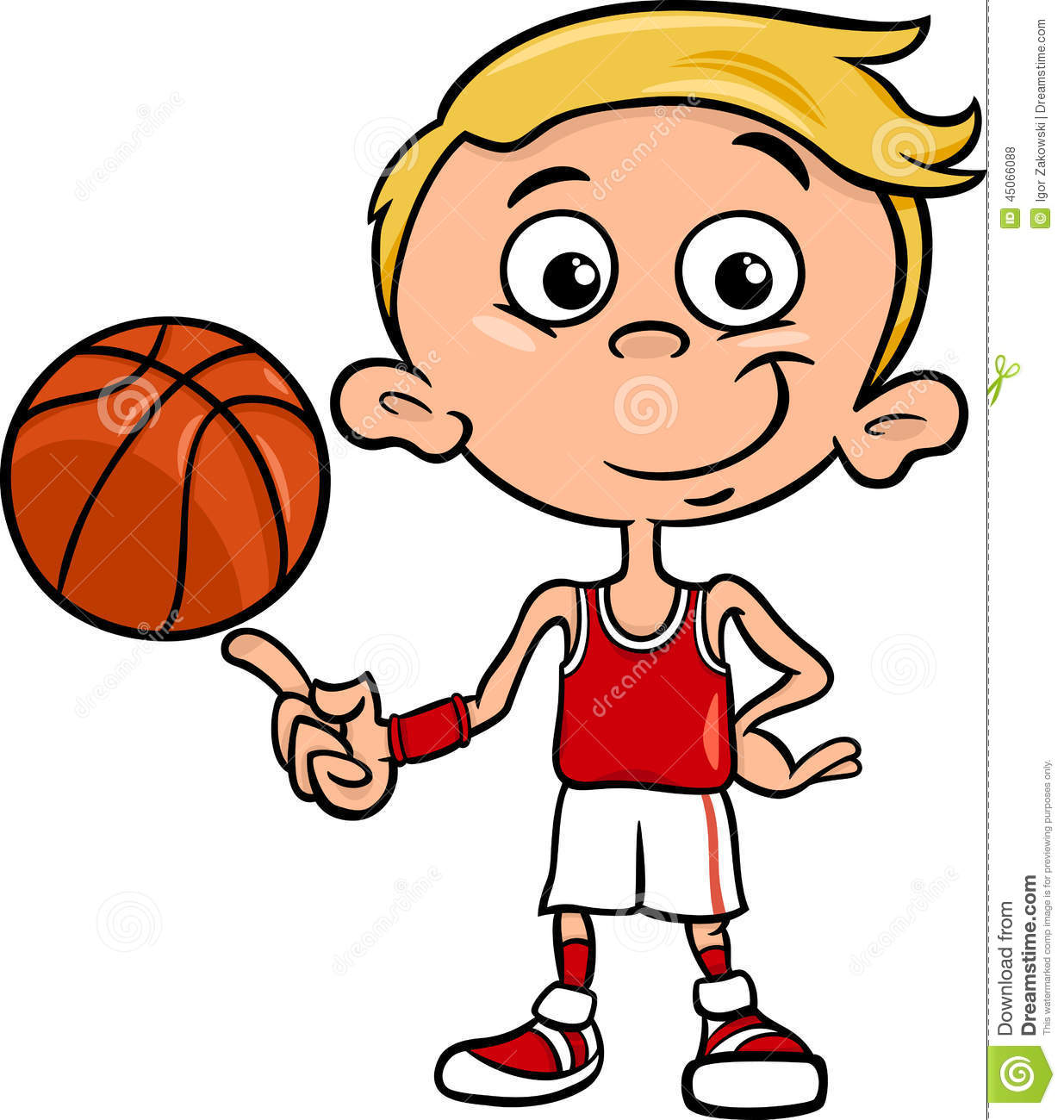 Kid Basketball Player Clipart.