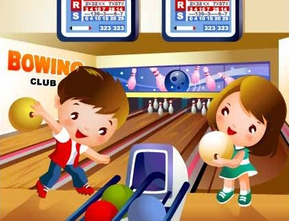 Children\'s bowling motion Clipart Picture Free Download.