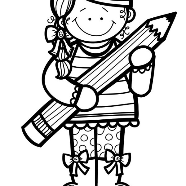 Black And White Kids Clipart Writing throughout Kids Writing Clip.