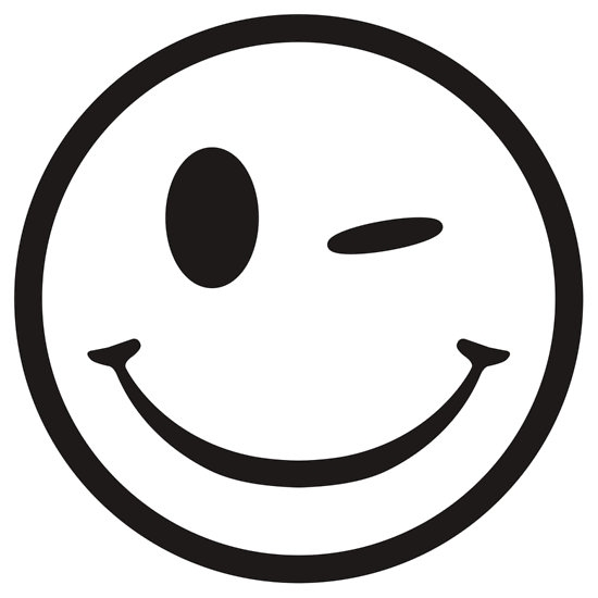 smiley face clip art black and white free Archives.