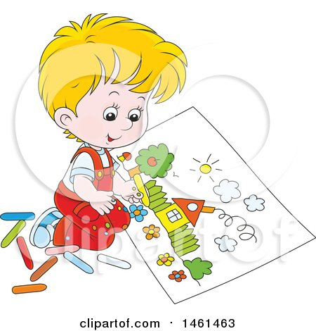 Boy Clipart For Coloring.