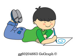 Kid Drawing Clip Art.