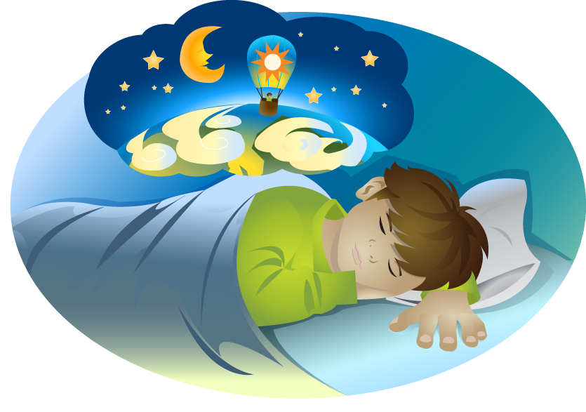 524 Dreaming free clipart.