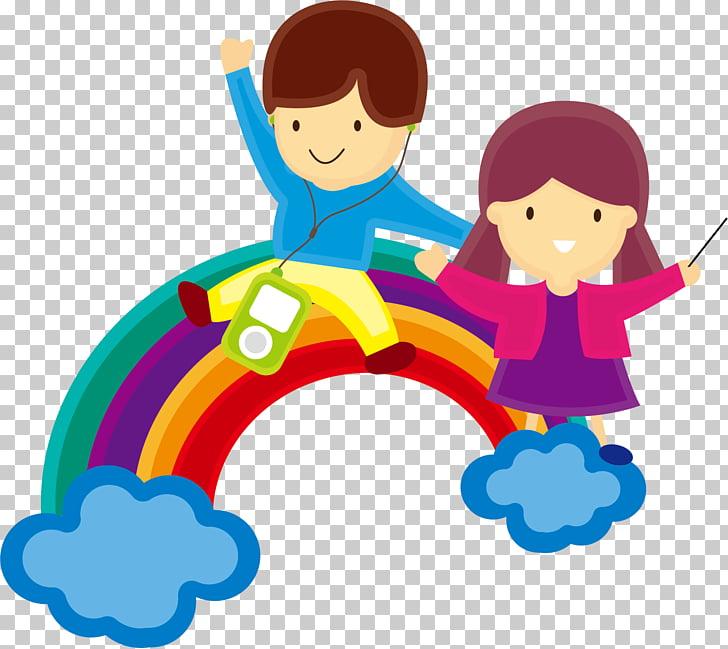 Child Conductor Music, Rainbow Children dream background.