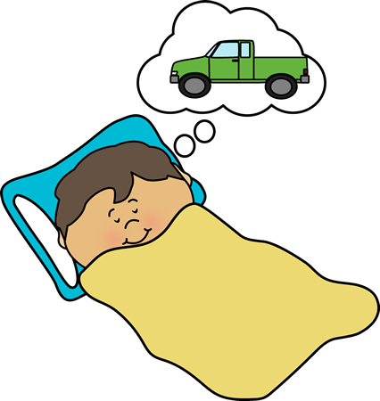 Kid Dreaming Clip Art.