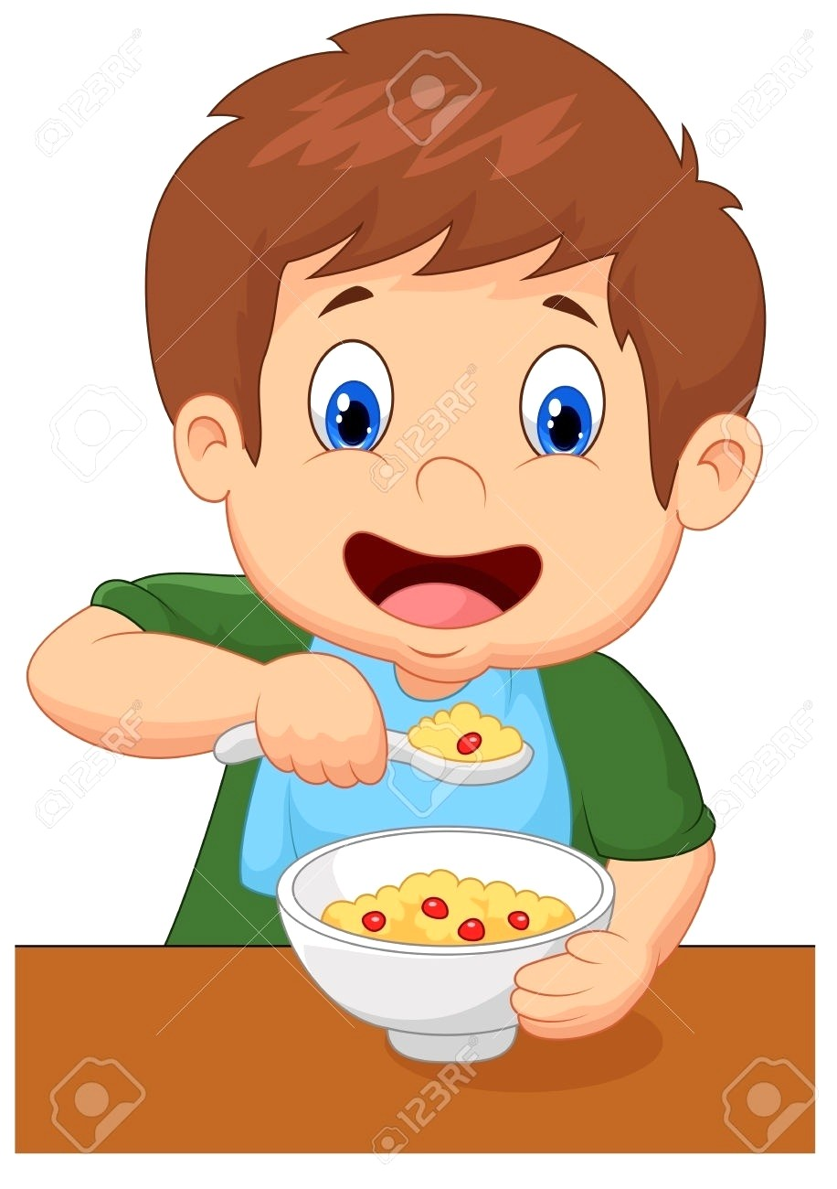 Child eating breakfast clipart 5 » Clipart Station.