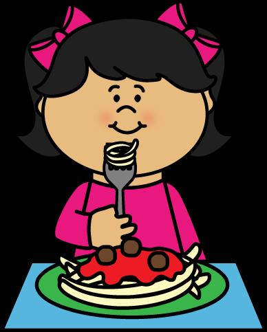 Kid Eating Spaghetti.