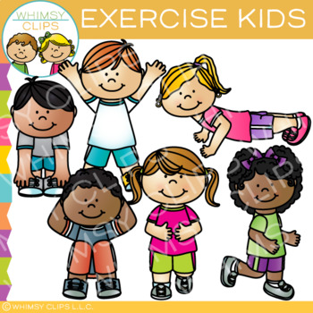 Kids Exercise Clip Art.