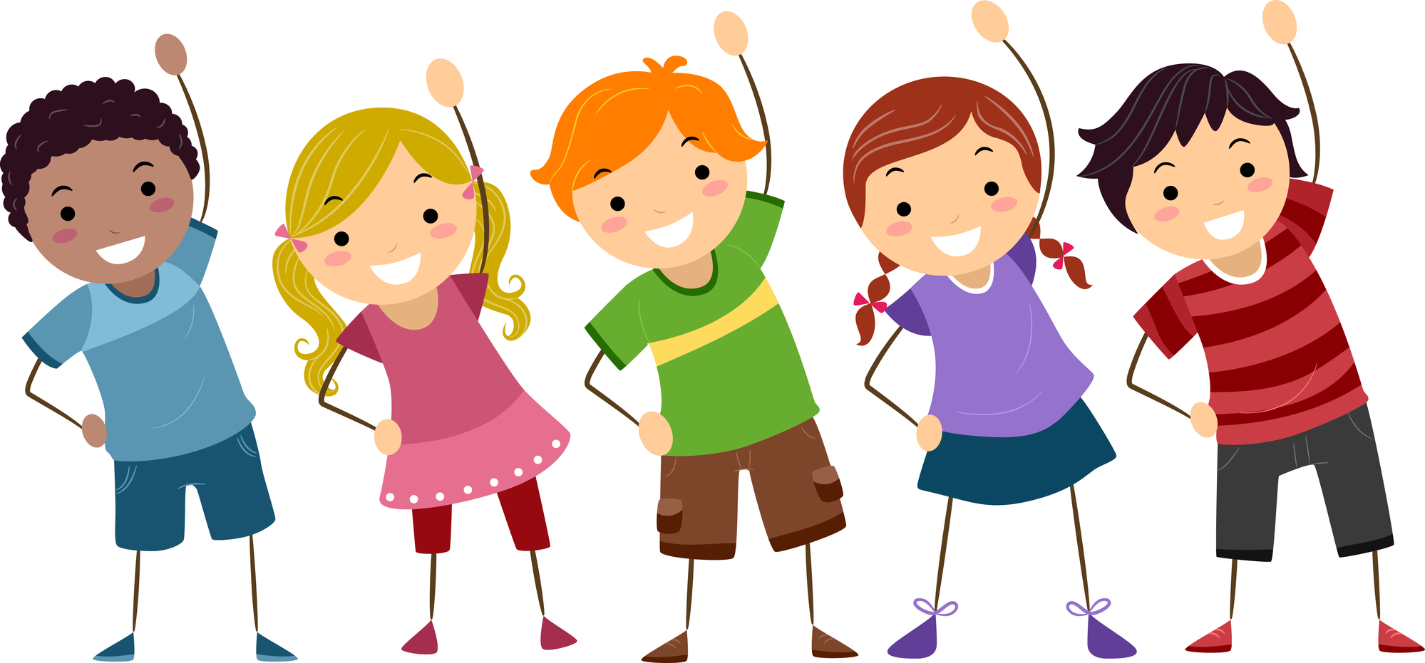 Kids Exercise Clipart.