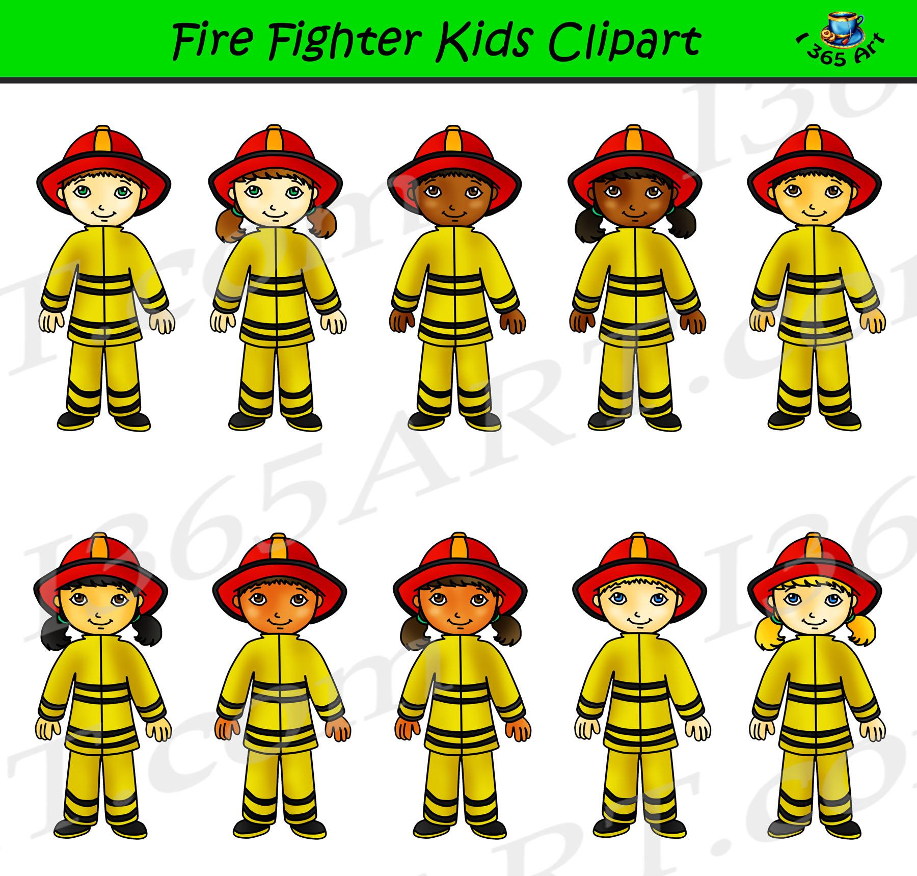 Firefighter Clipart Kids.