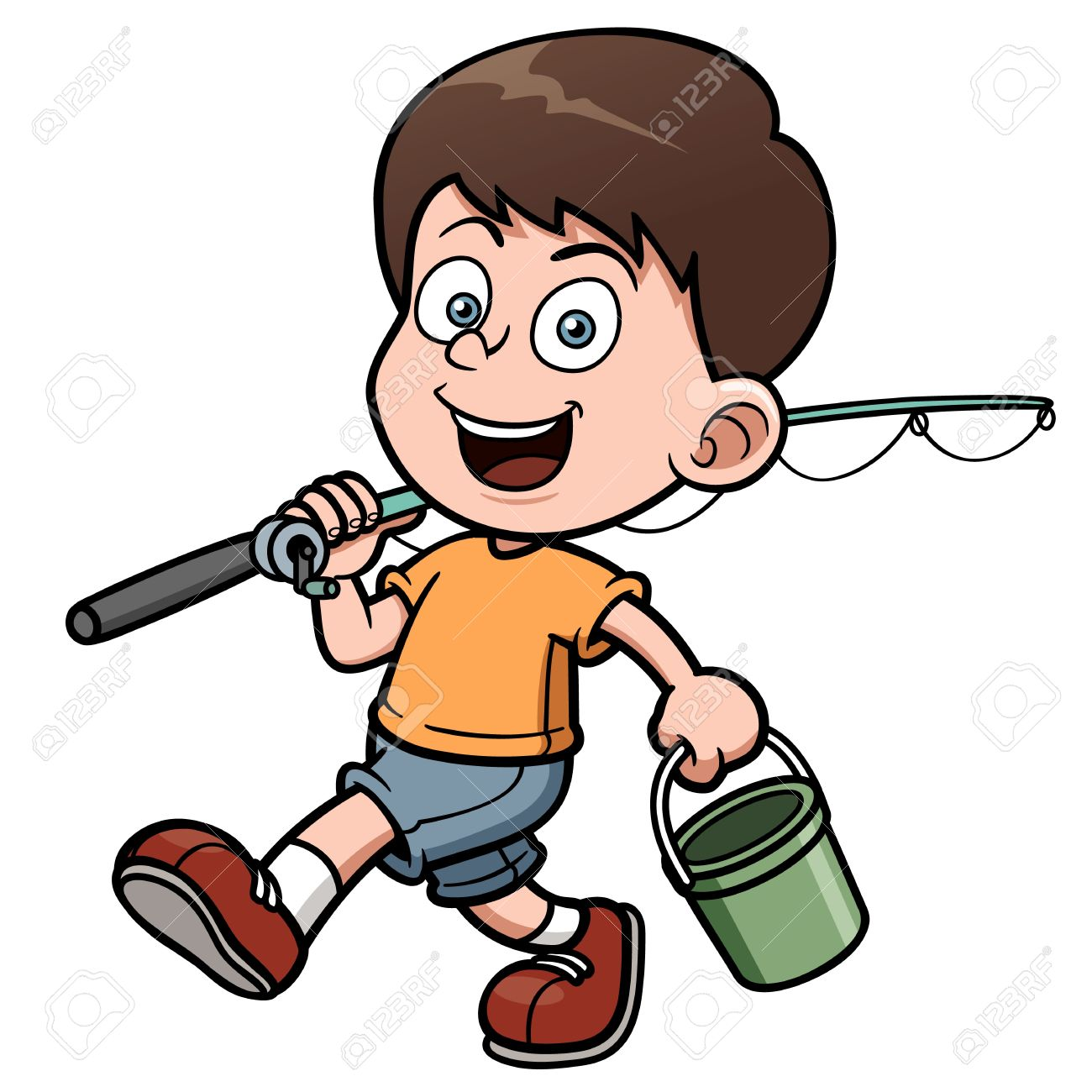 Kid fishing clipart 1 » Clipart Station.