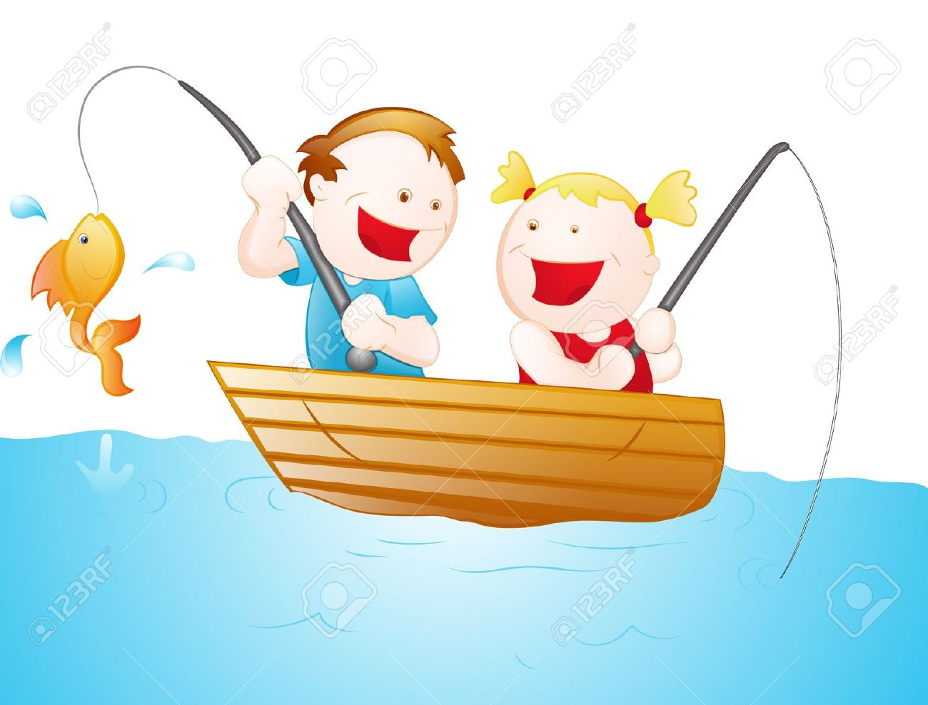 Kids fishing clipart 4 » Clipart Station.