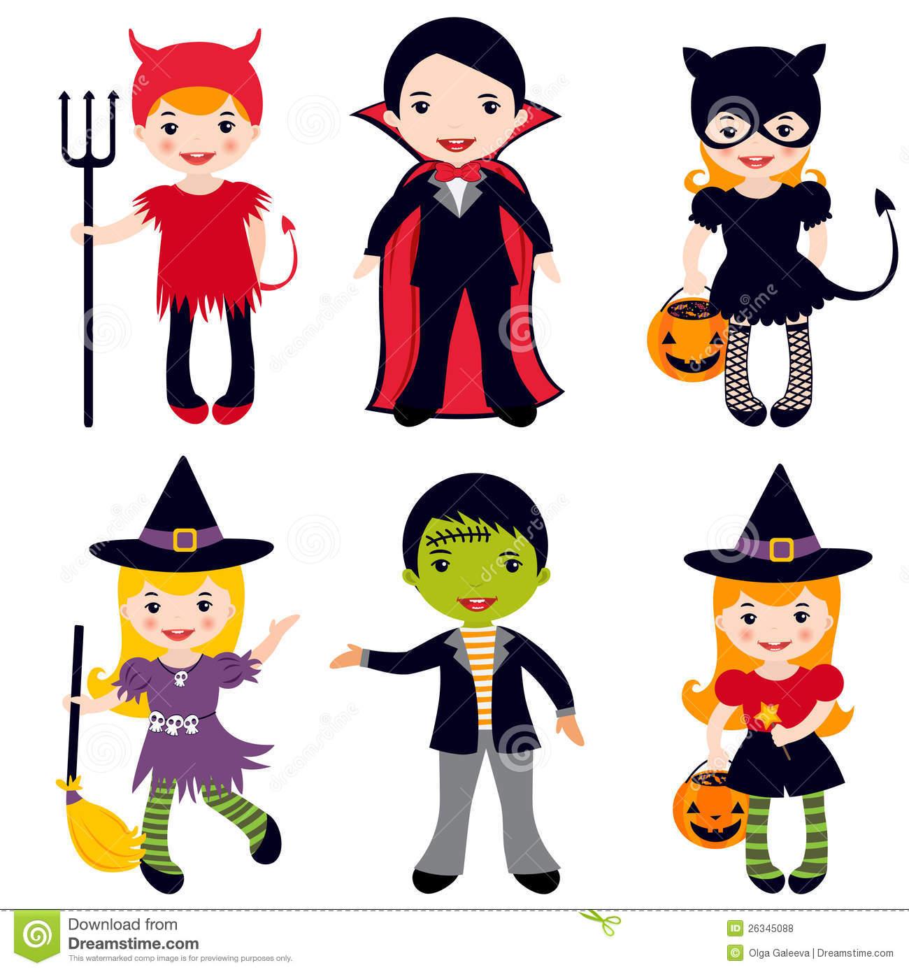 Halloween Clipart Kids.