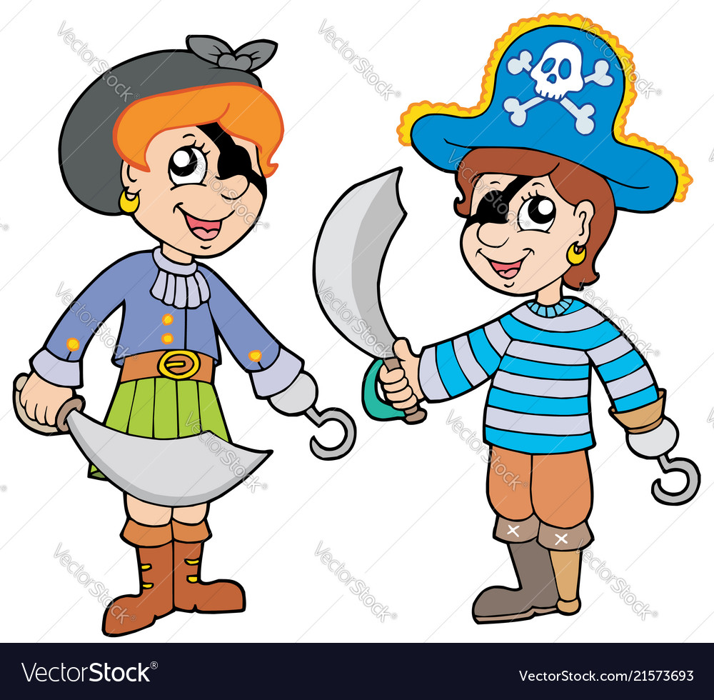 Pirate boy and girl.