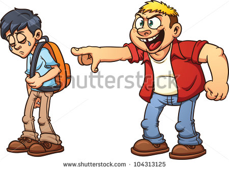 Kids Being Bullied Clipart.