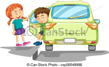 Getting Out Of Car Clipart.