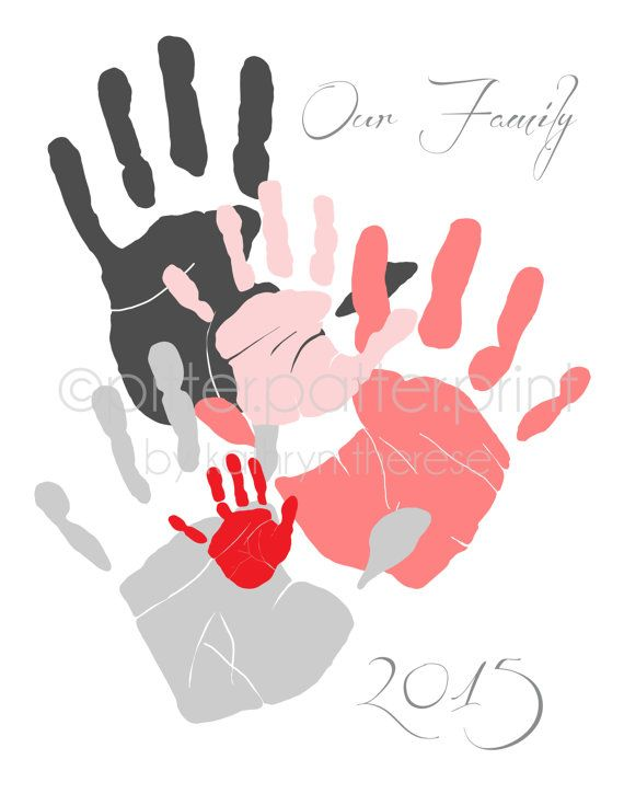 kid hand and arm print clipart #11