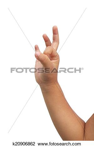Stock Photo of Kid hand make ok symbol k20906862.
