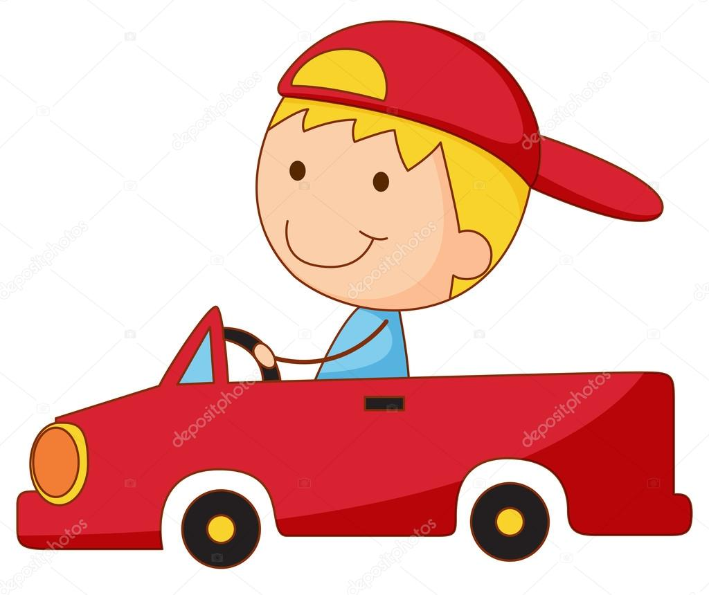 Kid in a car — Stock Vector © interactimages #10614729.