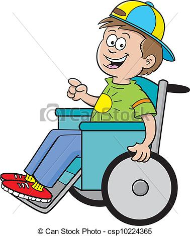 Boy In Wheel Chair Clipart.