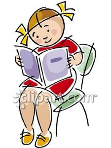 Kids Reading Chair Clipart.