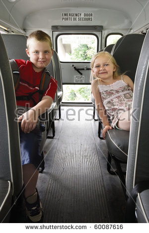 School Bus Seat Stock Images, Royalty.