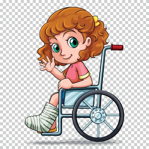 Best Clip Art Of A Kid In Wheelchair Illustrations, Royalty.