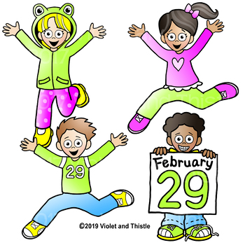 Leap Year Clipart {Kids Jumping Clipart}.