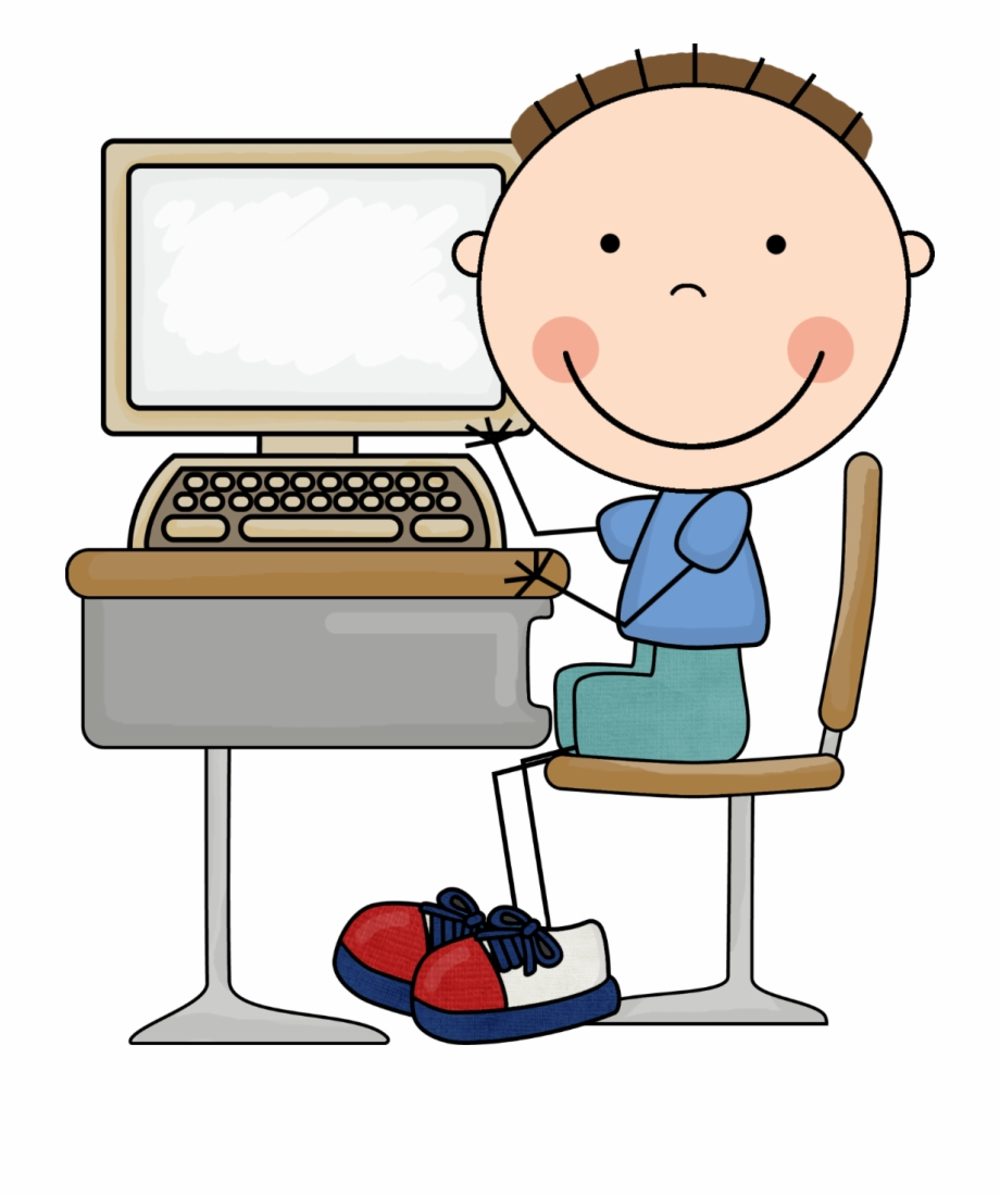 Computers Clipart Boy.