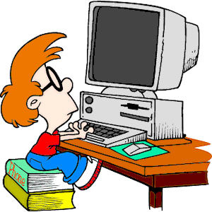 Kid at Computer clipart, cliparts of Kid at Computer free download.