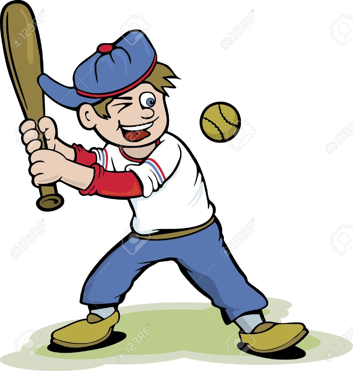 Kid playing baseball clipart » Clipart Portal.