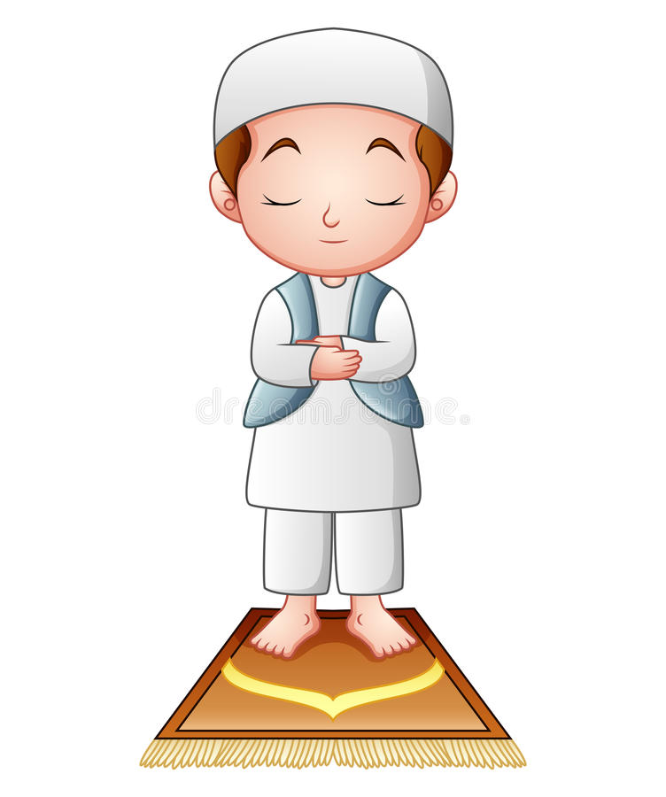 Kids Praying Stock Illustrations.