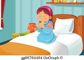 Children Praying Clip Art.